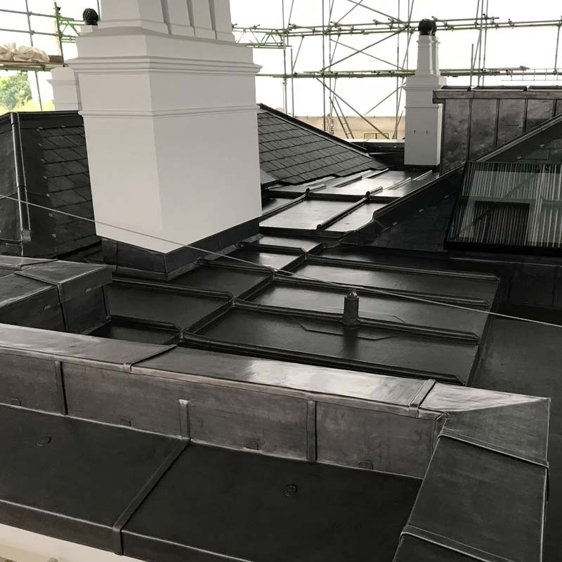 Shepperton heritage lead work by Phipps Roofing