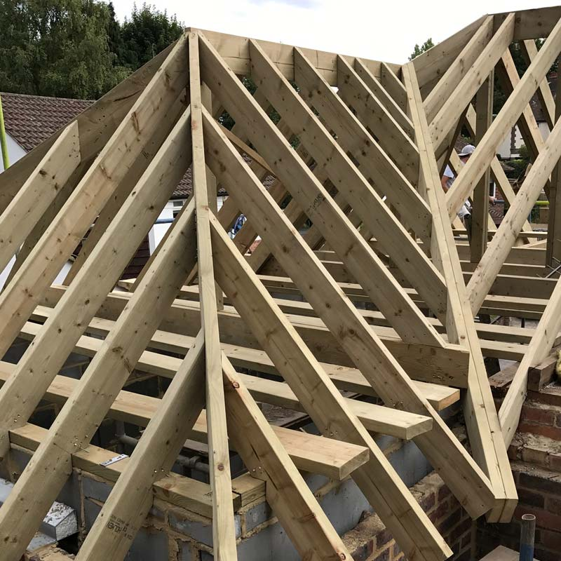 Extension roof construction in Croydon