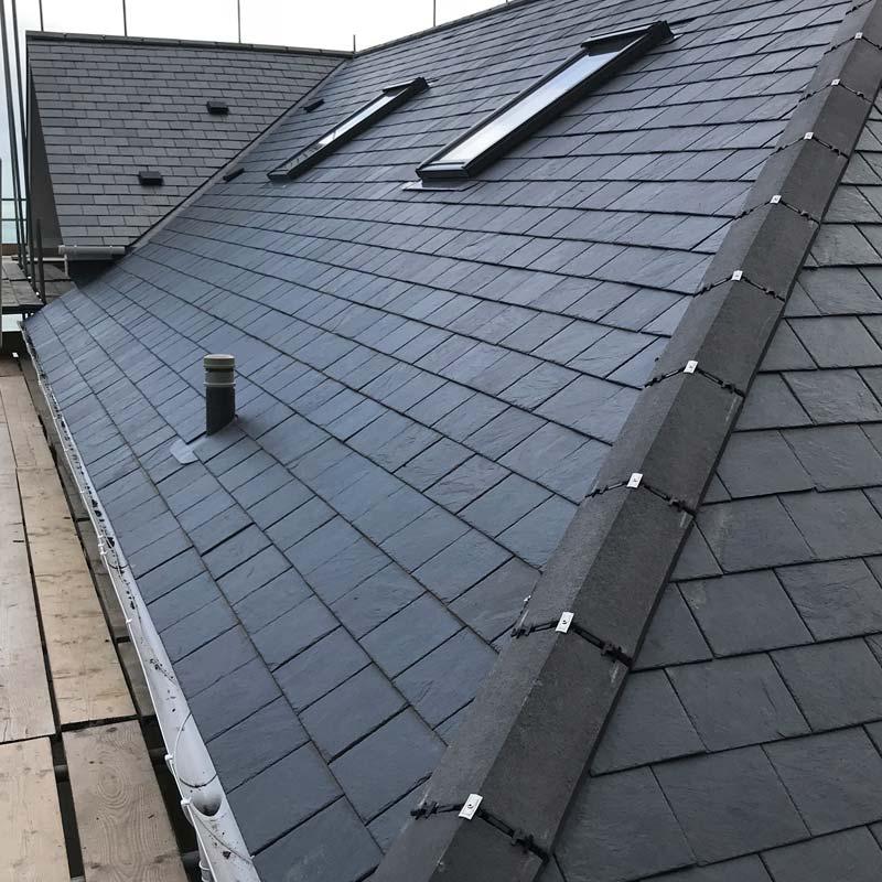 Slate roof tiling installation