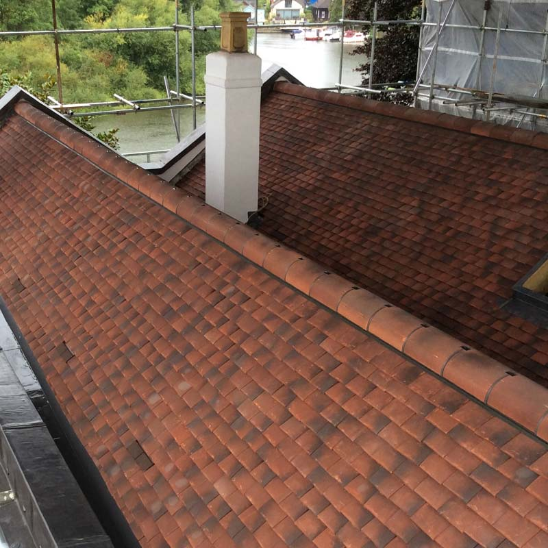 Listed building roof tiling installation by Phipps Roofing